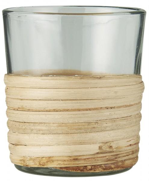 Teelichthalter Rattangeflecht von Ib Laursen