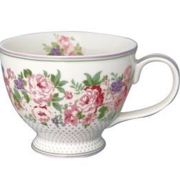 Tea Cup Rose white