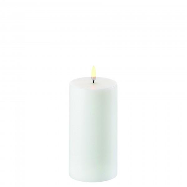 LED Kerze 7,8 x 15 cm nordic white