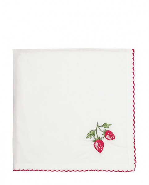 Napkin Strawberry red/w Greengate