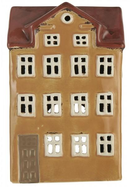 Teelichthalter Nyhavn rotes Dach Schornstein von Ib Laursen