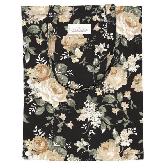 Bag cotton Josephine black von Greengate