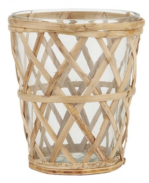 Teelichthalter Bambusgeflecht von Ib Laursen