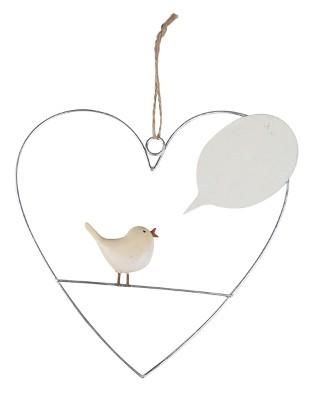 Baden Anhänger Herz mit Vogel