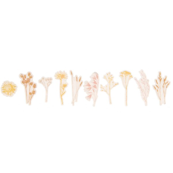 Washi Stickers Trockenblumen