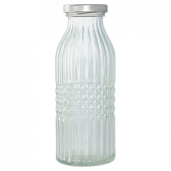 Glasflasche klar medium