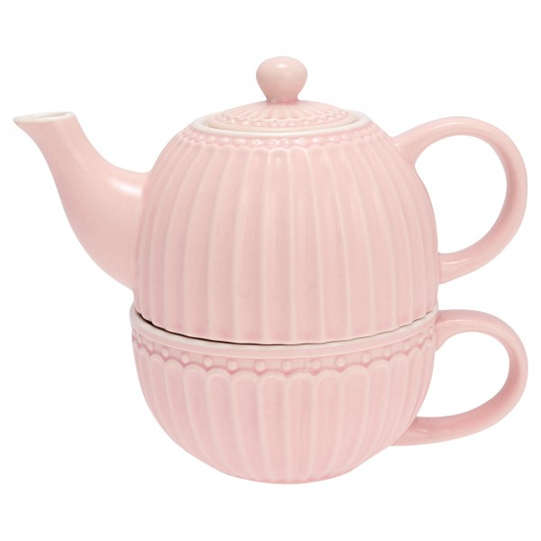 Tea for one Alice pale pink