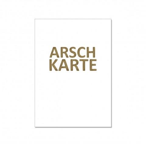 "Karte ""Arschkarte"""
