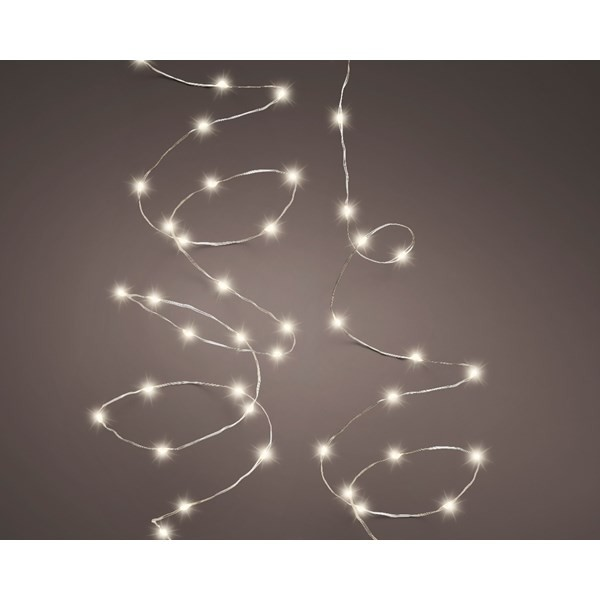 Mikro Lichterkette 50 LED's mit Timer - outdoor & indoor
