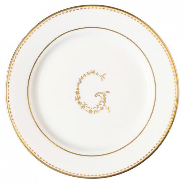 Kleiner Teller G Gold von Greengate