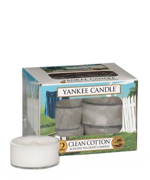 Clean Cotton Teelichter Yankee Candle