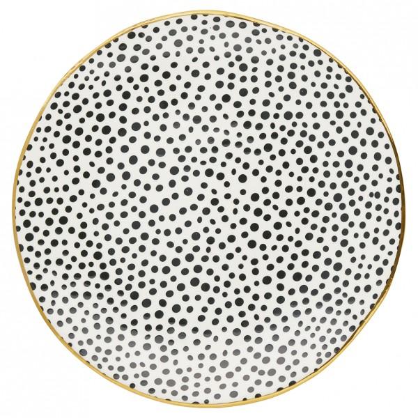 Speiseteller Dot black/gold von Greengate