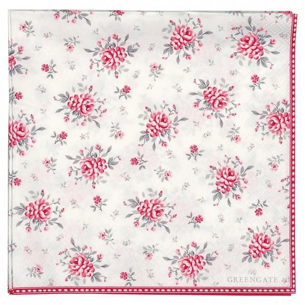 Papierservietten 33x33 Flora white 20 Stück