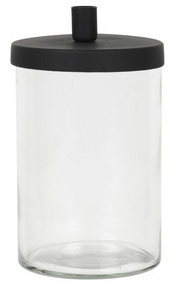 Glashalter f/dünnen Kerzen Metalldeckel