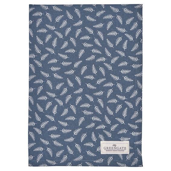 Tea towel Milla dark blue von Greengate