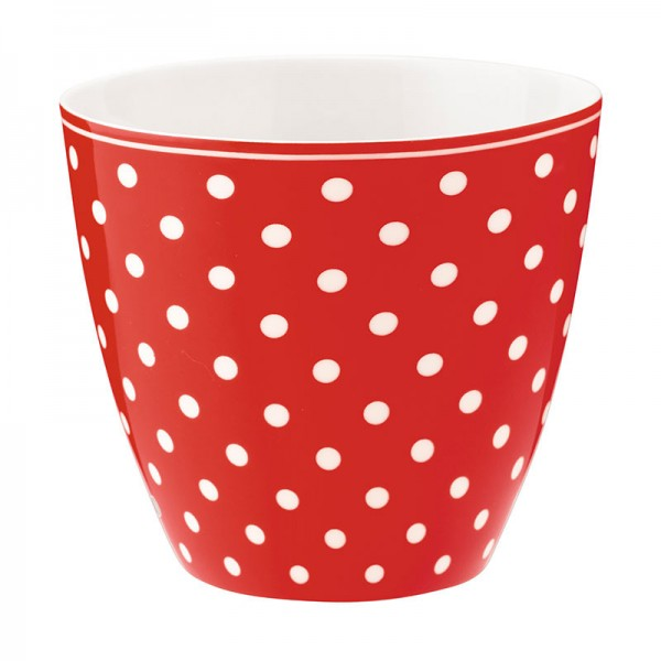 Latte cup Spot red von Greengate