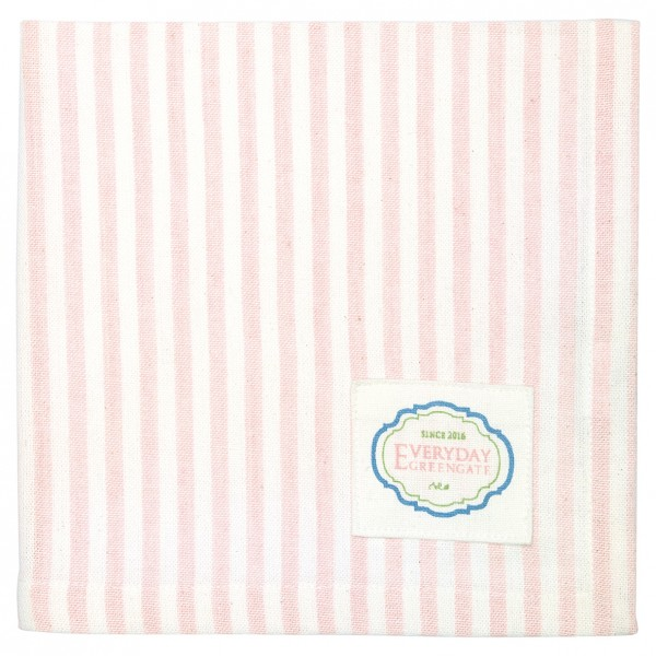 Stoffserviette Alice Stripes pale pink von Greengate