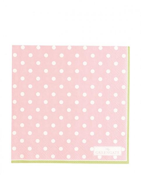 Greengate Paper Napkin Spot pale pink
