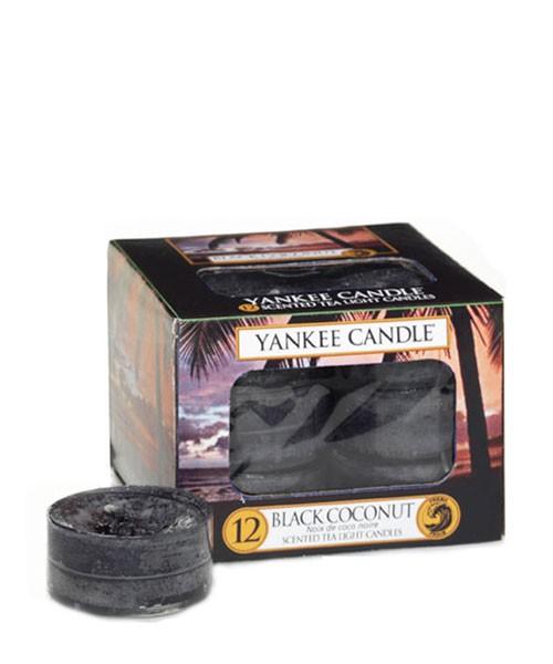 Black Coconut 12 Tea Light von Yankee