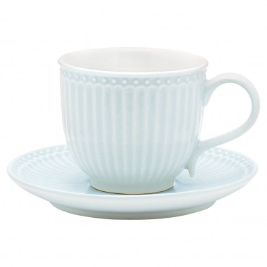 Cup & Saucer Alice Pale blue von Greengate