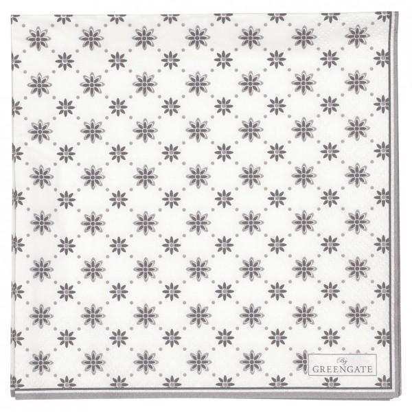 Papierservietten 33x33 Laurie white 20 Stück