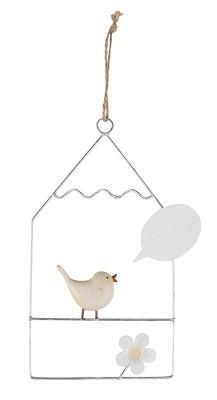 Baden Anhänger Haus mit Vogel