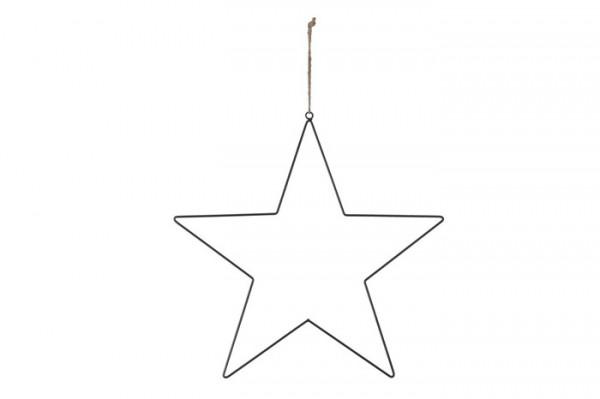 Hanging star metal 50cm