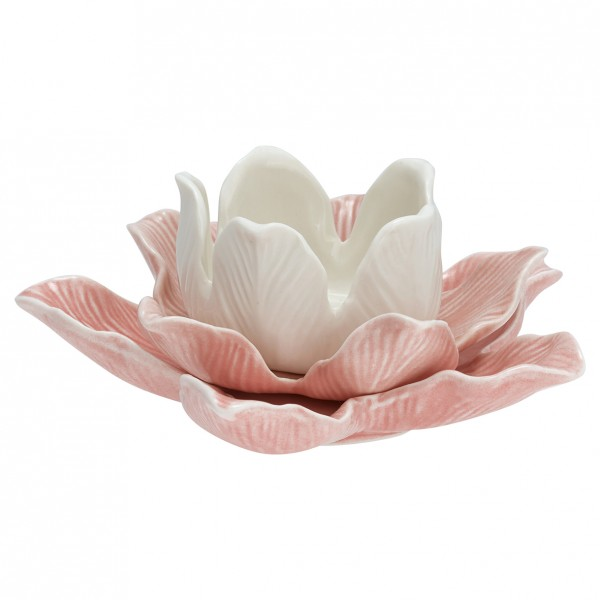 Kerzenhalter Flower pale pink medium