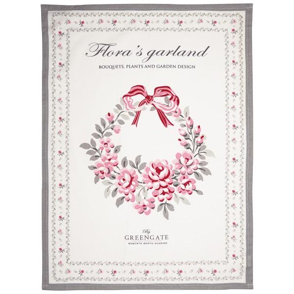 Tea Towel Flora white Garland von Greengate