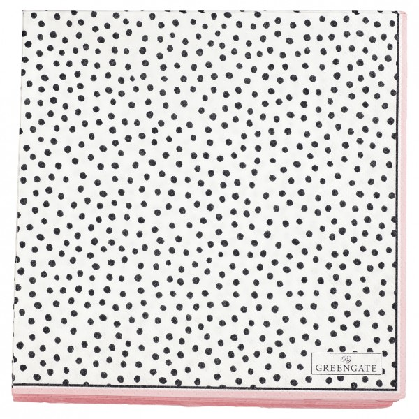 Papierservietten 33x33 Dot dark grey 20 Stück