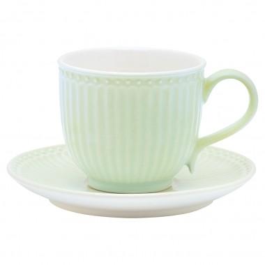 Cup & Saucer Alice pale green von Greegate