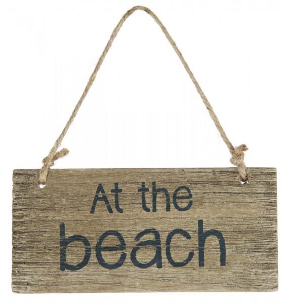 Schild At the beach IB