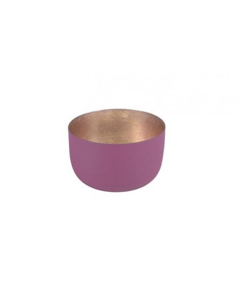 Madras Windlicht S burgundy-gold